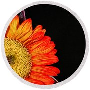 Red Sunflower IIi Round Beach Towel
