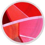 Red Thing Round Beach Towel