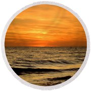 Redington Beach Sunset Round Beach Towel