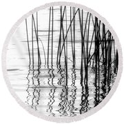 Reeds On The Turtle Flambeau Flowage Round Beach Towel