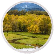Reflected Seasons Round Beach Towel