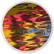 Reflection Abstraction Round Beach Towel