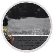 Reflection And Meditation Round Beach Towel