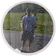 Reflection And Remembrance Round Beach Towel