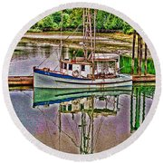 Reflection Hdr Round Beach Towel
