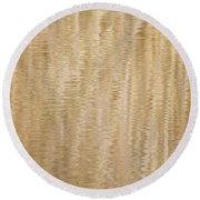 Reflection In Pond Round Beach Towel