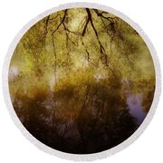 Reflection Round Beach Towel by Joana Kruse