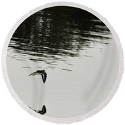 Reflection Of Flight Round Beach Towel