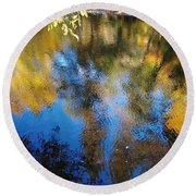 Reflection Perfection Round Beach Towel
