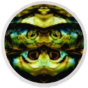 Reflections 1 Round Beach Towel