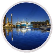 Reflections At Freemantle Round Beach Towel