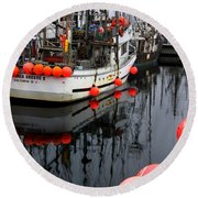 Reflections At French Creek Round Beach Towel by Bob Christopher