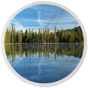 Reflections At The Summit Round Beach Towel