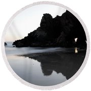 Reflections Big Sur Round Beach Towel