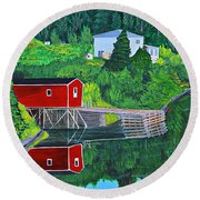Reflections H D R Round Beach Towel by Barbara Griffin
