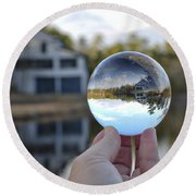 Reflections Of A Beautiful Day Round Beach Towel