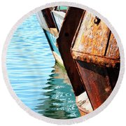 Reflections Of A Rust Bucket Round Beach Towel