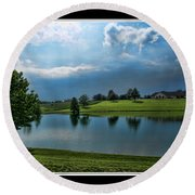Reflections Of Home Round Beach Towel