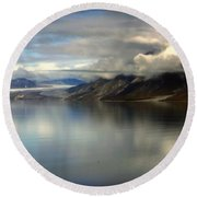 Reflections Of Stillness Round Beach Towel