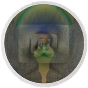 Reflections Of The Soul Round Beach Towel