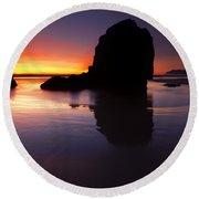 Reflections Of The Tides Round Beach Towel