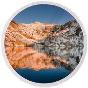 Reflections On Angel Lake Round Beach Towel