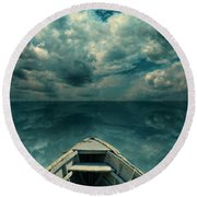 Reflections On The Sea Round Beach Towel