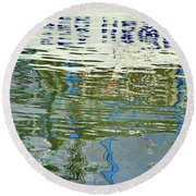 Reflective Water Abstract Round Beach Towel