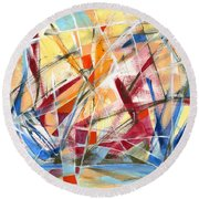 Refracted Dream Round Beach Towel