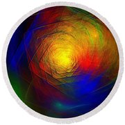 Refraction Round Beach Towel