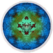 Regal Abyss Round Beach Towel