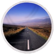 Regional Road In County Wicklow Round Beach Towel