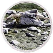 Relax Round Beach Towel by Joana Kruse
