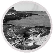 Relaxation  Round Beach Towel