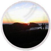 Relishing The Moment Round Beach Towel