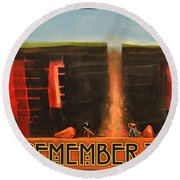 Remember To Flush Poster Round Beach Towel
