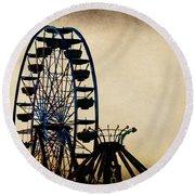 Remember When Ferris Wheel Round Beach Towel