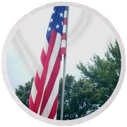 Remembering 9-11 Round Beach Towel