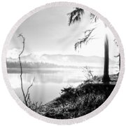 Remembering Days Gone By Round Beach Towel