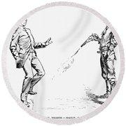 Remington: Cowboy, 1888 Round Beach Towel