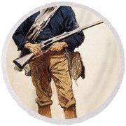 Remington: Soldier, 1901 Round Beach Towel