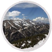 Rendezvous Mountain Round Beach Towel
