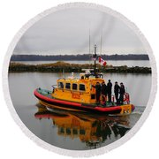 Rescue Boat Round Beach Towel