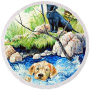 Rescue Me Round Beach Towel