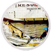 Resolute Round Beach Towel