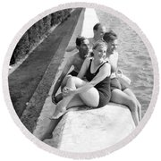 Rest Time 1946 Round Beach Towel