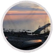 Restful Waters Round Beach Towel