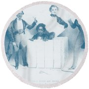 Resurrection Of Henry Box Brown Round Beach Towel by Photo Researchers