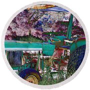 Retired In Color Round Beach Towel