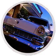 Retro Ford At Bob's Round Beach Towel